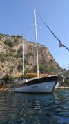 Ertan 1 Gulet Yacht, Front Bow.